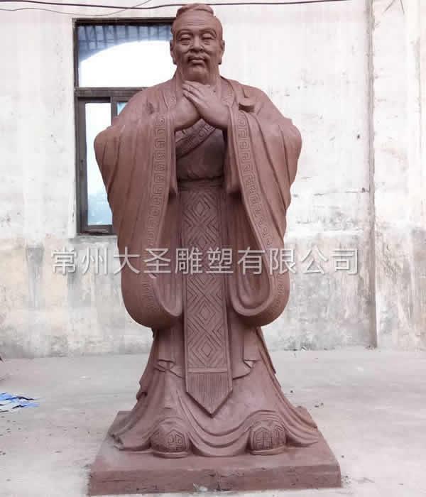 孔子防铜泥塑